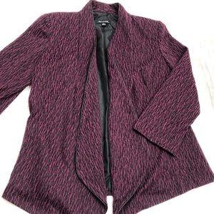 Purple & Black Jacket Blazer Shoulder Pads Small
